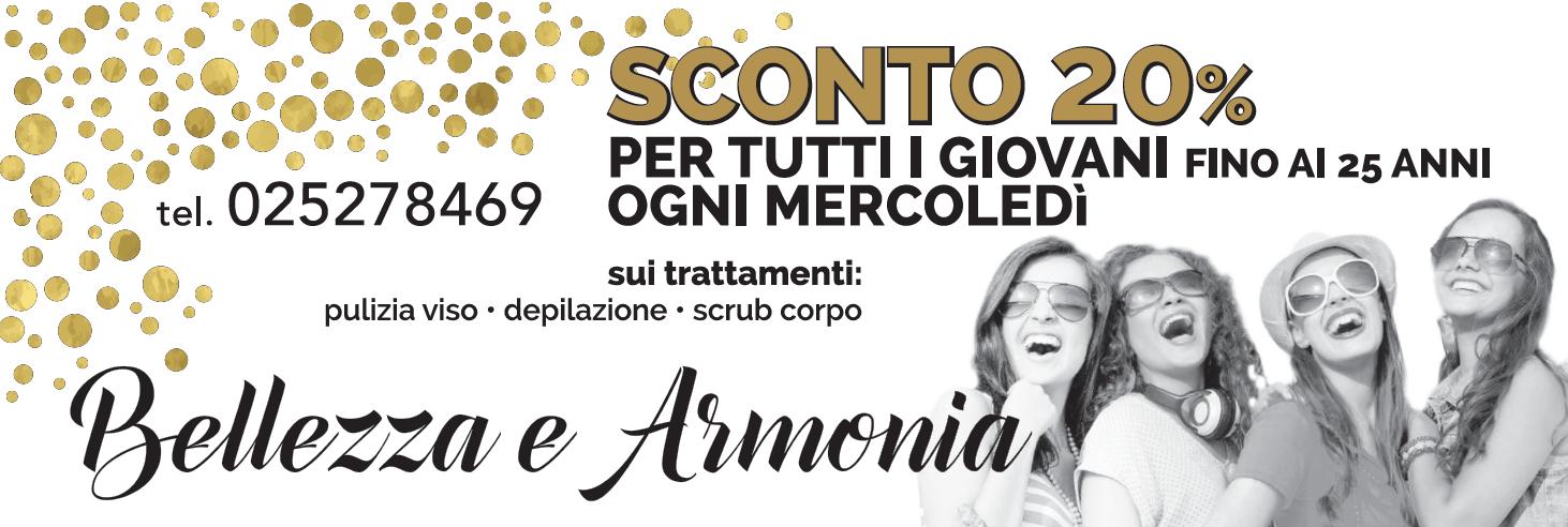 Promozione sconto giovani - Bellezza e Armonia - Centro Estetico Olistico - Milano